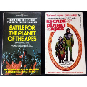 Battle for the Planet of the Apes & Escape from two (2) papperbacks (1973)