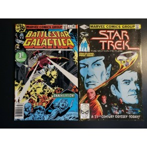 BATTLESTAR GALACTICA #1 (1979) STAR TREK #1 (1980) VF- (7.5) LOT OF 2 SCI-FI |