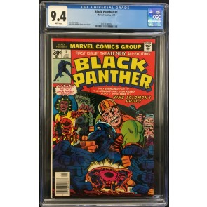 Black Panther (1977) #1 CGC 9.4 White Pages Jack Kirby (2023538005)