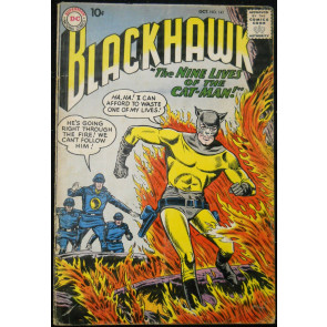 BLACKHAWK #141 VG+ CAT-MAN RETURNS COVER/STORY