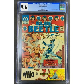 Blue Beetle (1977) #1 CGC 9.6 White Pages Modern Comics High Census (3804932005)