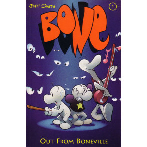 "Bone ""Out From Boneville"" Jeff Smith VF/NM-NM 1st Edition Hardcover Dark Horse"