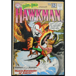 BRAVE AND THE BOLD #43 VG+ HAWKMAN BY KUBERT