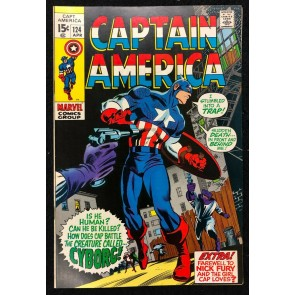 Captain America (1968) #124 VF (8.0) Nick Fury app