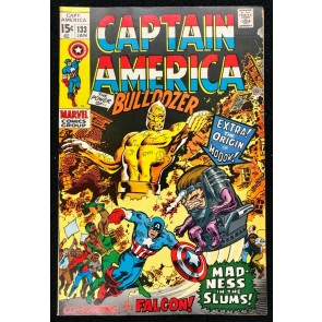 Captain America (1968) #133 FN+ (6.5) Origin Modok Falcon becomes Cap's partner