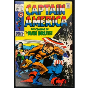 Captain America (1968) #121 FN/VF (7.0) vs Man Brute