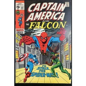 Captain America (1968) #137 VG/FN (5.0) Spider-Man Cover & App