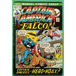 Captain America (1968) & Falcon #153 VG+ (4.5) 1st brief Jack Monroe (Nomad)