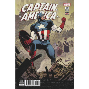Captain America (2017) #698 VF/NM 2nd Printing Variant Cover