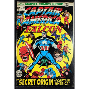 Captain America (1968) #155 FN+ (6.5) 1950's origin of Cap retold