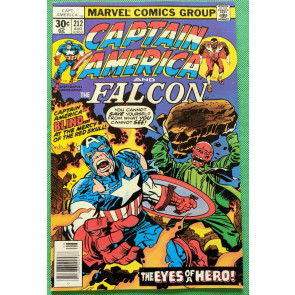 Captain America (1968) & Falcon #212 VF+ (8.5) Jack Kirby cover, art & script