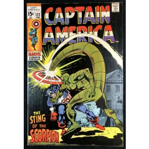 Captain America (1968) #122 FN/VF (7.0) vs Scorpion