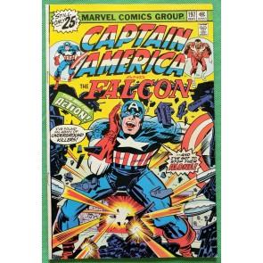 Captain America (1968) & Falcon #197 VF (8.0) Jack Kirby script cover & art