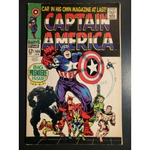 Captain America #100 (1968) F+ 6.5 Jack Kirby 1st issue in solo series|