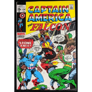 Captain America (1968) #134 VF- (7.5) 1st Falcon title credit