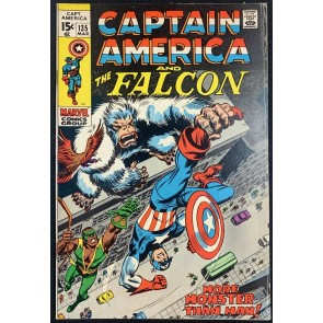 Captain America (1968) #135 VG/FN (5.0) with Falcon
