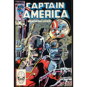 Captain America (1968) #286 VF/NM (9.0) vs Deathlok Classic Mike Zeck cover