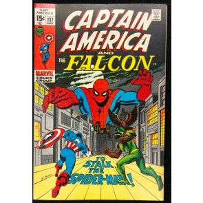 Captain America (1968) #137 VF (8.0) co-starring Falcon Spider-Man cover