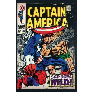 Captain America (1968) #106 FN (6.0) Jack Kirby cover & art