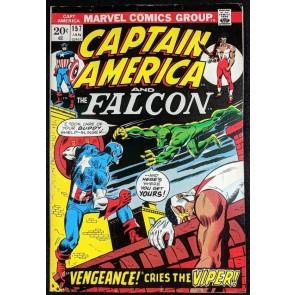 Captain America (1968) #157 FN+ (6.5) 1st app Viper