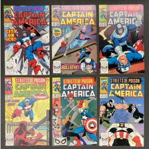 """Captain America (1968) #'s 372 373 374 375 376 377 378 """"Streets of Poison"""" Set"""