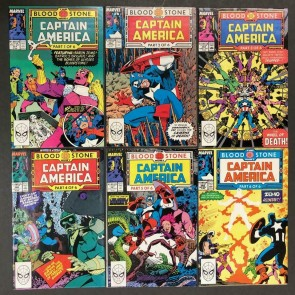 Captain America (1968) #'s 357 358 359 360 361 362 1st Crossbones Bloodstone Set