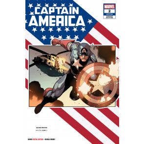 Captain America (2018) #2 VF/NM Leinil Francis Yu 2nd Printing Variant Cover