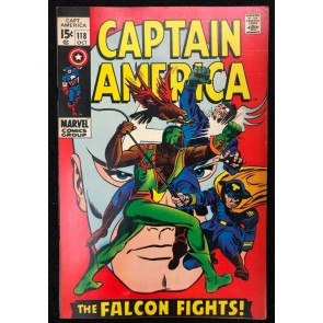 Captain America (1968) #118 FN/VF (7.0) 2nd App Falcon