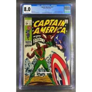 Captain America (1968) #117 CGC 8.0 Origin & 1st Appearance Falcon (3742140015)