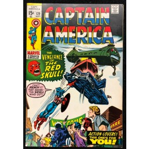 Captain America (1968) #129 VF (8.0) Red Skull