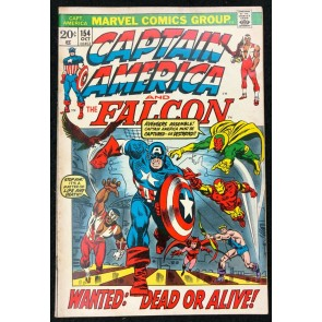 Captain America (1968) #154 FN (6.0) with Falcon 1st full app Jack Monroe Nomad
