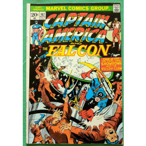 Captain America (1968) & Falcon #167 VF- (7.5)  vs Yellow Claw