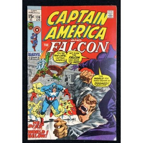 Captain America (1968) #136 FN- (5.5) with Falcon