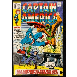 Captain America (1968) #127 FN/VF (7.0) Iron Man Nick Fury Sharon Carter app