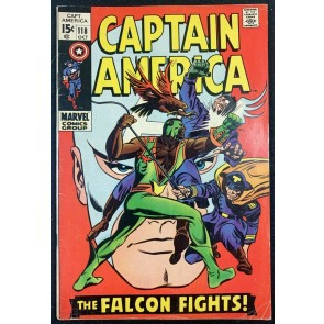 Captain America (1968) #118 FN- (5.5) 2nd App Falcon