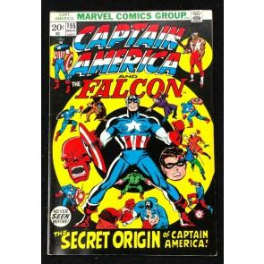 Captain America (1968) #155 FN/VF (7.0) Origin of Jack Monroe & 1950's Cap