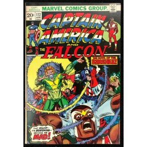 Captain America (1968) #172 FN/VF (7.0) co-starring Falcon X-Men story pt 1 of 4