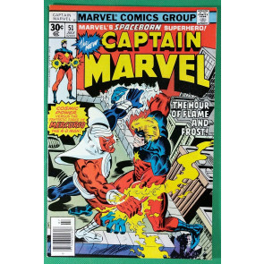 Captain Marvel (1968) #51 VF/NM (9.0)  vs Mercurio 4-D Man