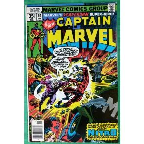 Captain Marvel (1968) #54 FN+ (6.5)  versus Nitro