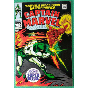 Captain Marvel (1968) #2 FN+ (6.5) vs Super Skrull