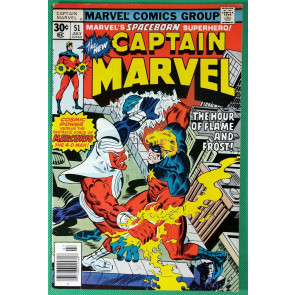 Captain Marvel (1968) #51 VF- (7.5)  versus Mercurio 4-D Man