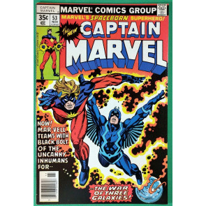 Captain Marvel (1968) #53 FN/VF (7.0)  Black Bolt app