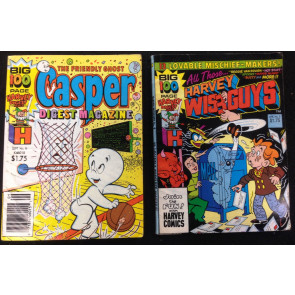 CASPER  #9 AND HARVEY WISE GUYS #3 1989 LOT OF 2 Digest
