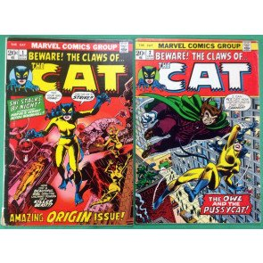 Cat (1972) 1 2 3 4 complete set FN (6.0) Origin & 1st app later becomes Tigra