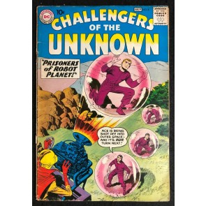 Challengers of the Unknown (1958) #8 VG- (3.5) Jack Kirby art
