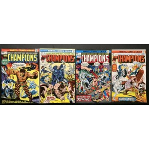 Champions (1975) #1-17 FN/VF (7.0) complete set Black Widow Ghost Rider Hercules