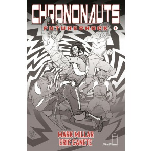 Chrononauts: Futureshock (2019) #4 VF/NM Black & White Cover B Pasqual Ferry