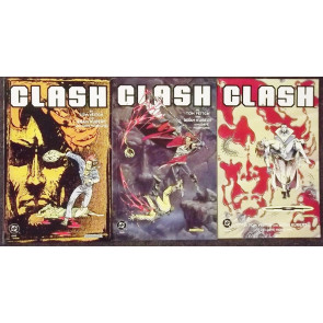 "CLASH (1991) #""s 1, 2, 3 COMPLETE VF/NM SET ADAM KUBERT TOM VEITCH VERTIGO"