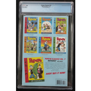 Classic Popeye (2012) #41 CGC 9.8 Kelly Jones Sketch Variant Cover (156368003)