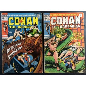 Conan (1970) #6 7 9 11 15 GD/VG (3.0) reader lot 5 comics total